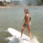 Rachel Longboarding